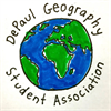 DePaul Geography Student Association's logo