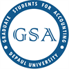 Graduate Students for Accounting's logo