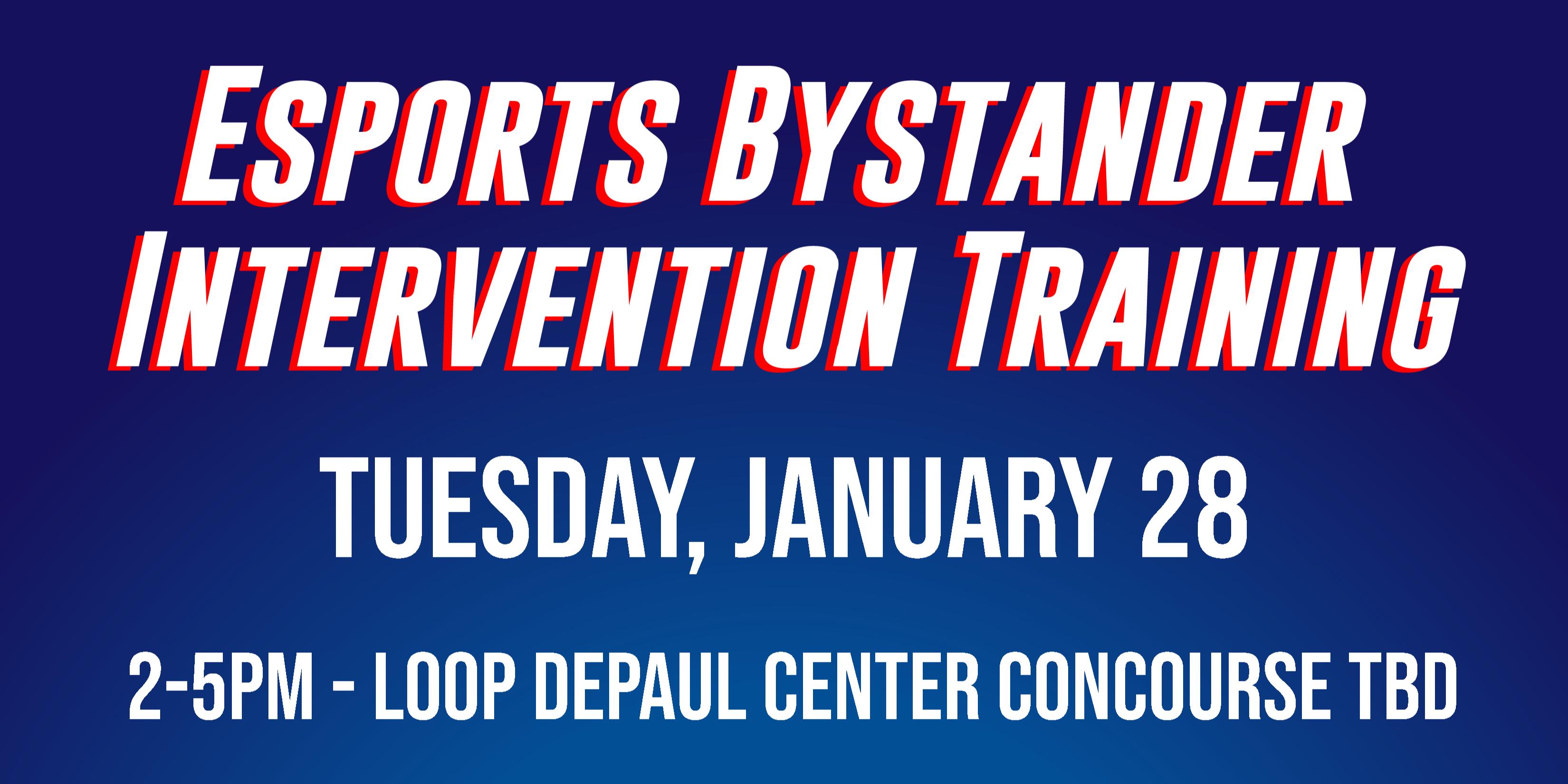 Esports Community Bystander Intervention Training