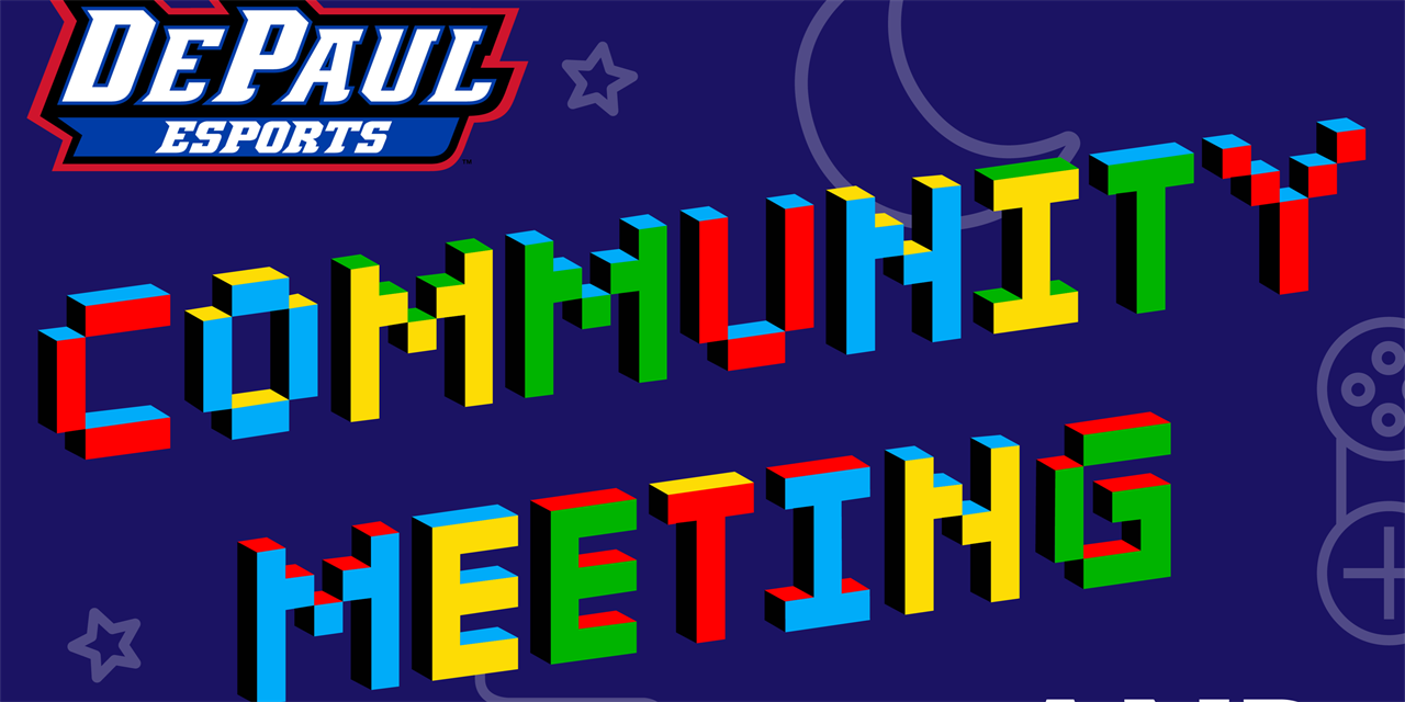 Esports Community Meeting & Game Night Event Logo