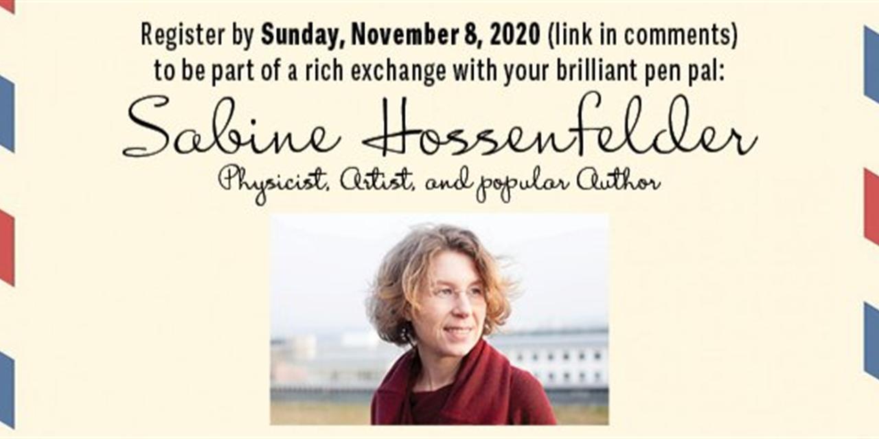 My Brilliant Pen Pal: Sabine Hossenfelder Event Logo