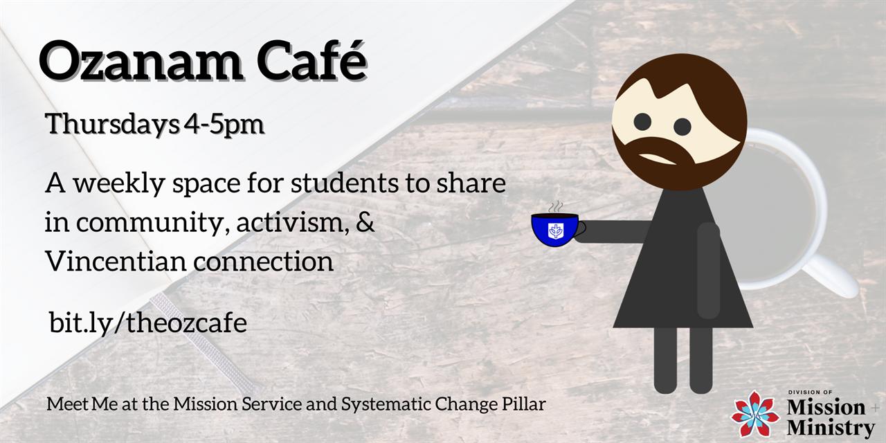 Ozanam Cafe Event Logo