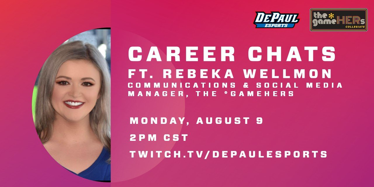 Career Chats ft. Rebeka Wellmon, the *gameHERs Event Logo