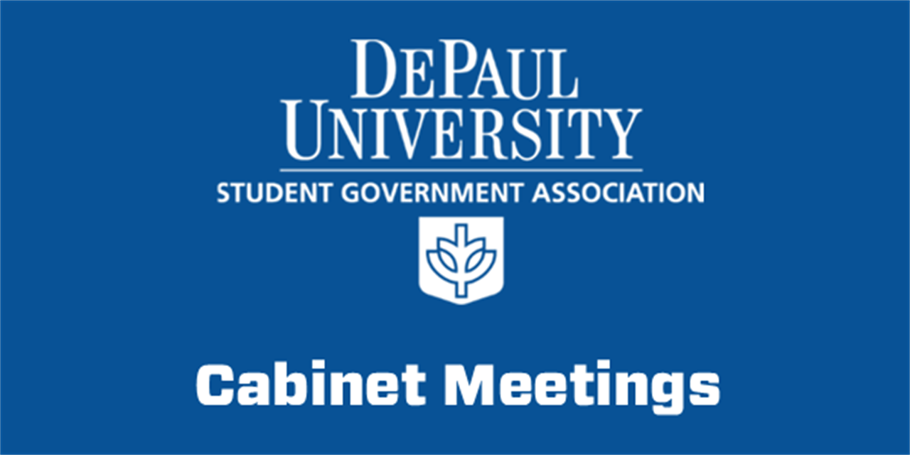 SGA Cabinet Meeting Event Logo