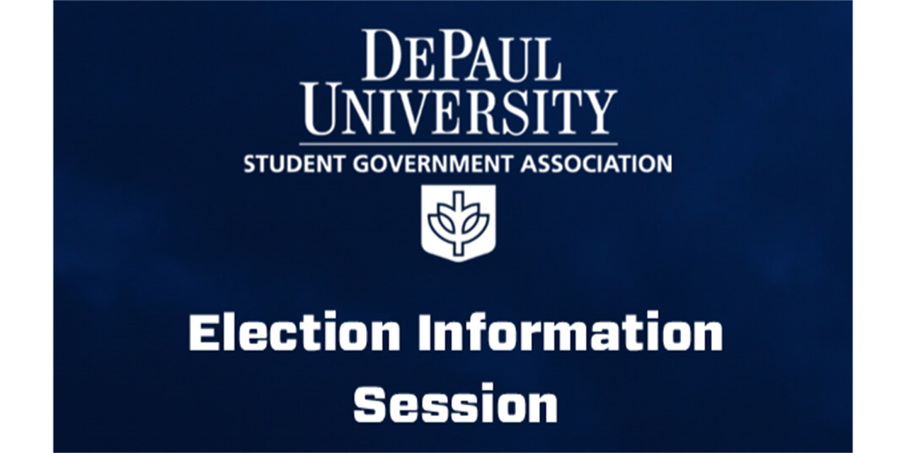 SGA Election Information Session Event Logo