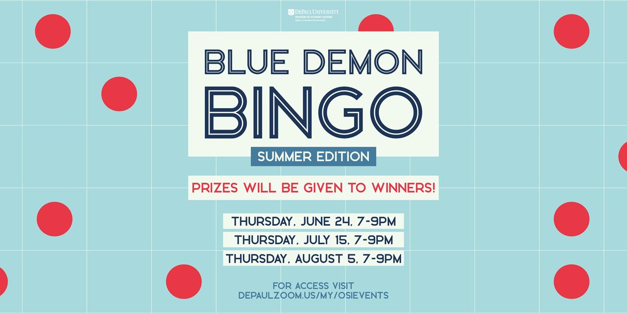 Blue Demon Bingo Event Logo