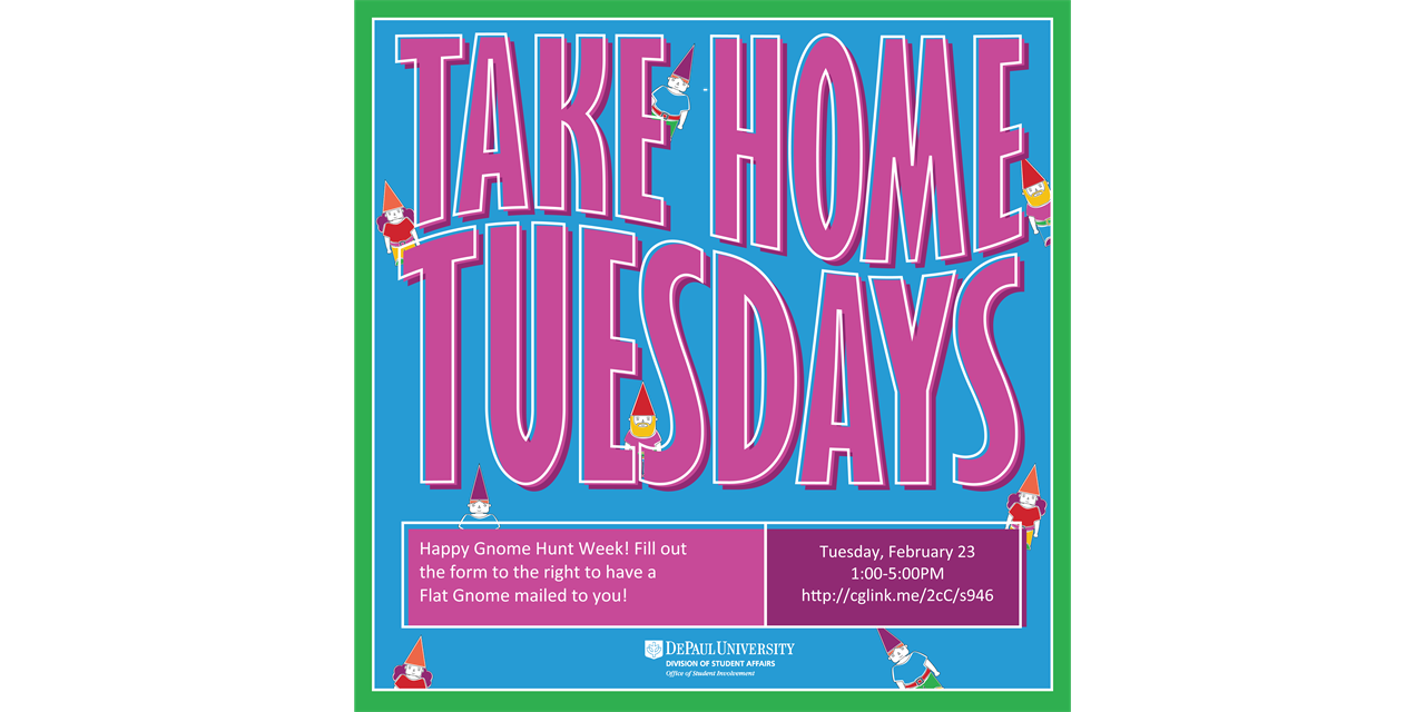 Take Home Tuesday: Gnome Hunt Event Logo