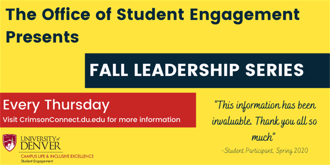 Fall Leadership Series: Recruitment and Team Building Event Logo