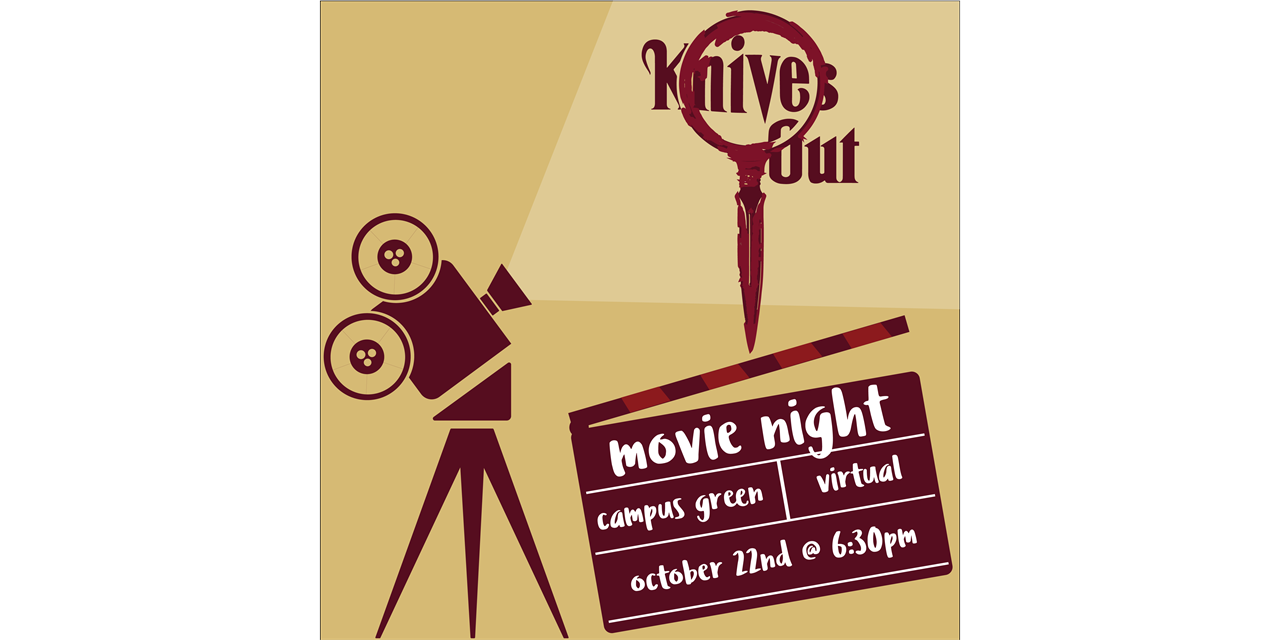 Homecoming 2020: Knives Out Movie Night Event Logo