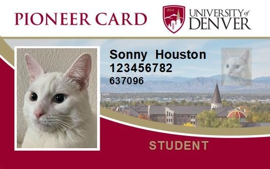 Example of the DU ID Card