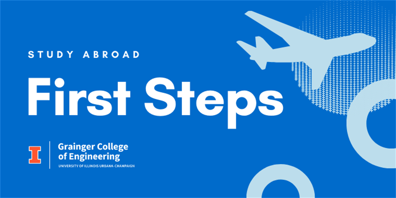 Study Abroad First Steps Meeting Event Logo