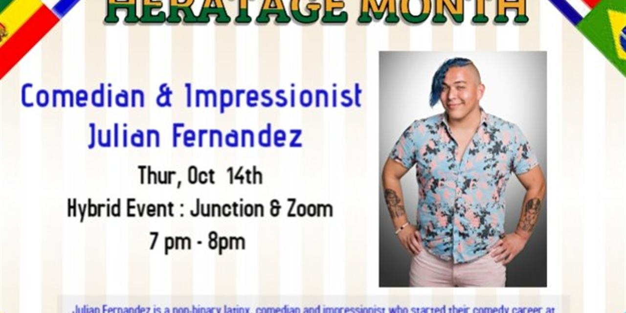 Comedian: Julian Fernandez Event Logo