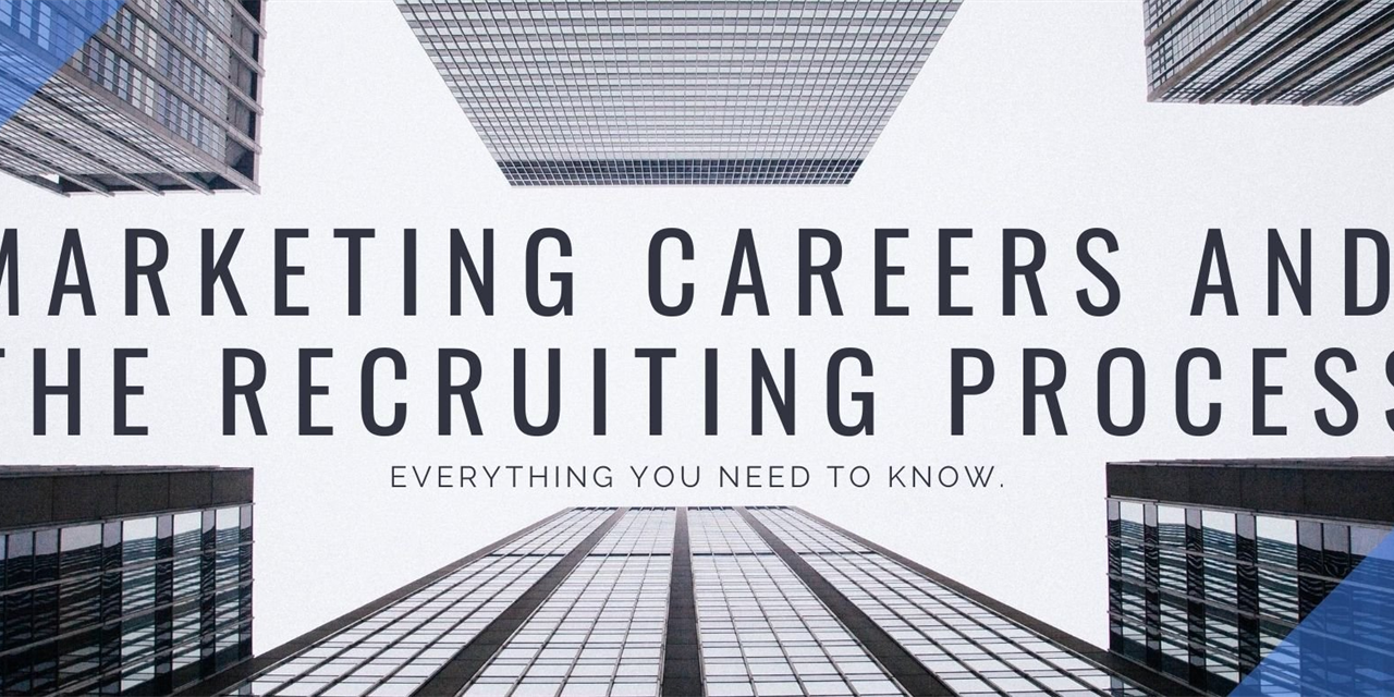 Marketing Careers and the Recruiting Process Event Logo