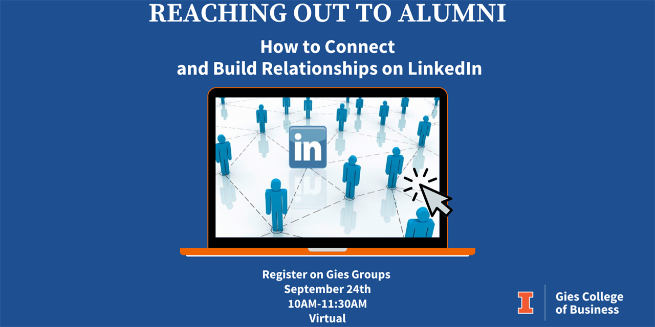 Reaching out to Alumni: How to Connect and Build Relationships on LinkedIn - VIRTUAL Event Logo