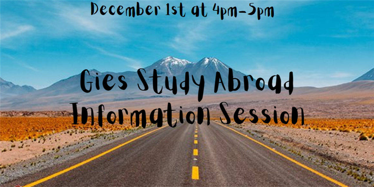 Gies Study Abroad Information Session Event Logo