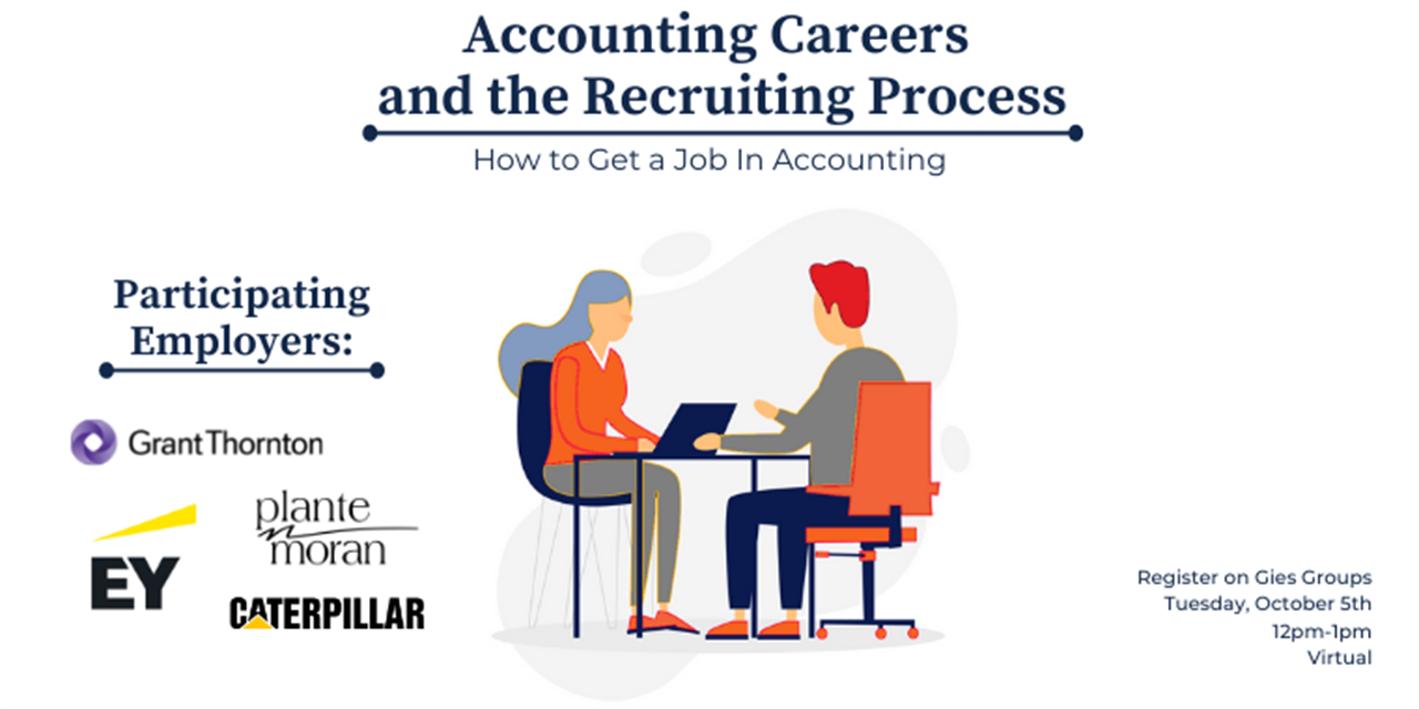 Accounting Careers and the Recruiting Process (How to get a job in Accounting) VIRTUAL Event Logo