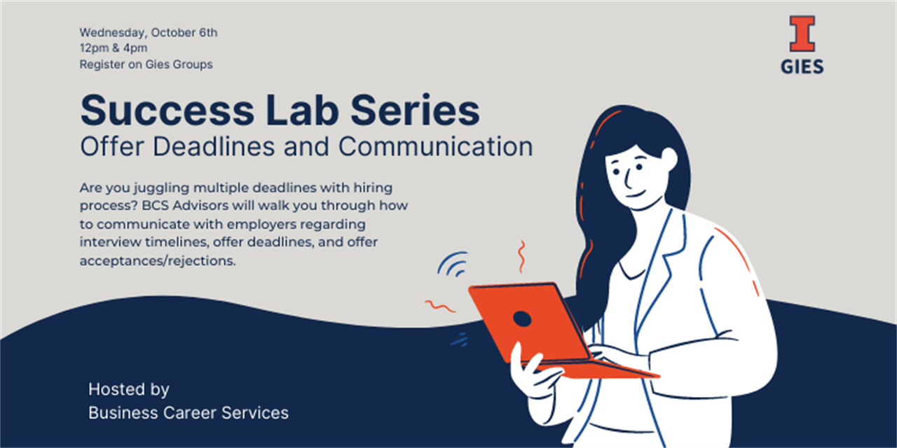 Success Lab Series: Offer Deadlines and Communication -4pm Event Logo