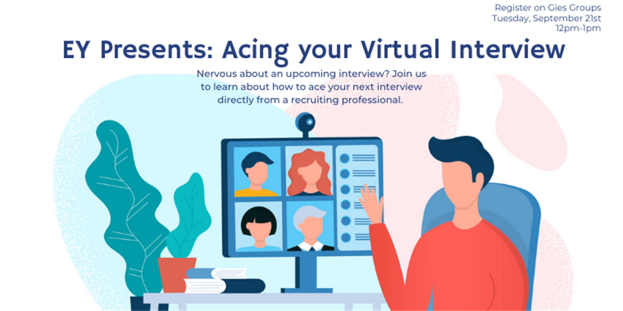 EY Presents: Acing your Virtual Interview - VIRTUAL Event Logo