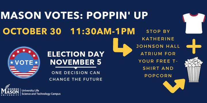 Poppin'-Up Mason Votes Event Logo