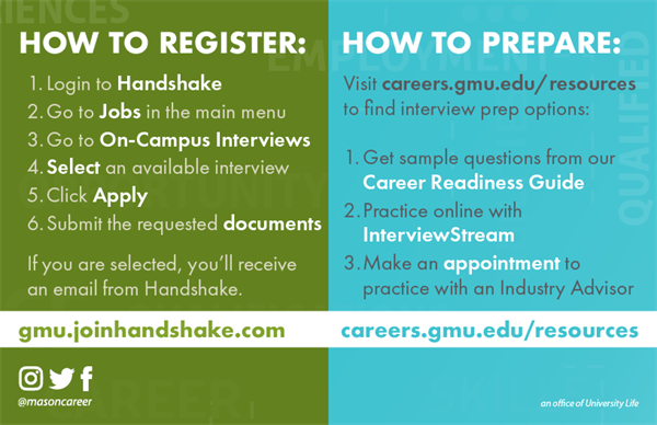 How to register and prepare for an on-campus interview