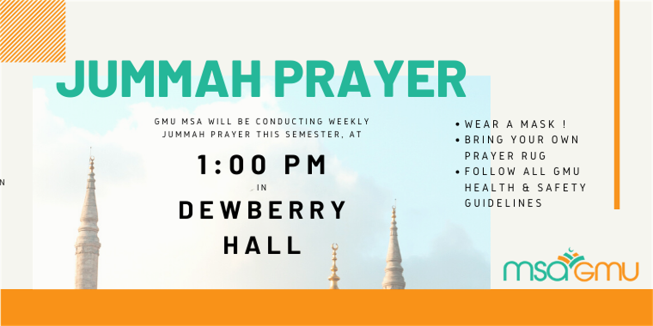 GMU MSA Jummah Prayer Event Logo