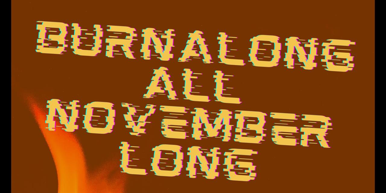 BurnAlong All November Long Event Logo