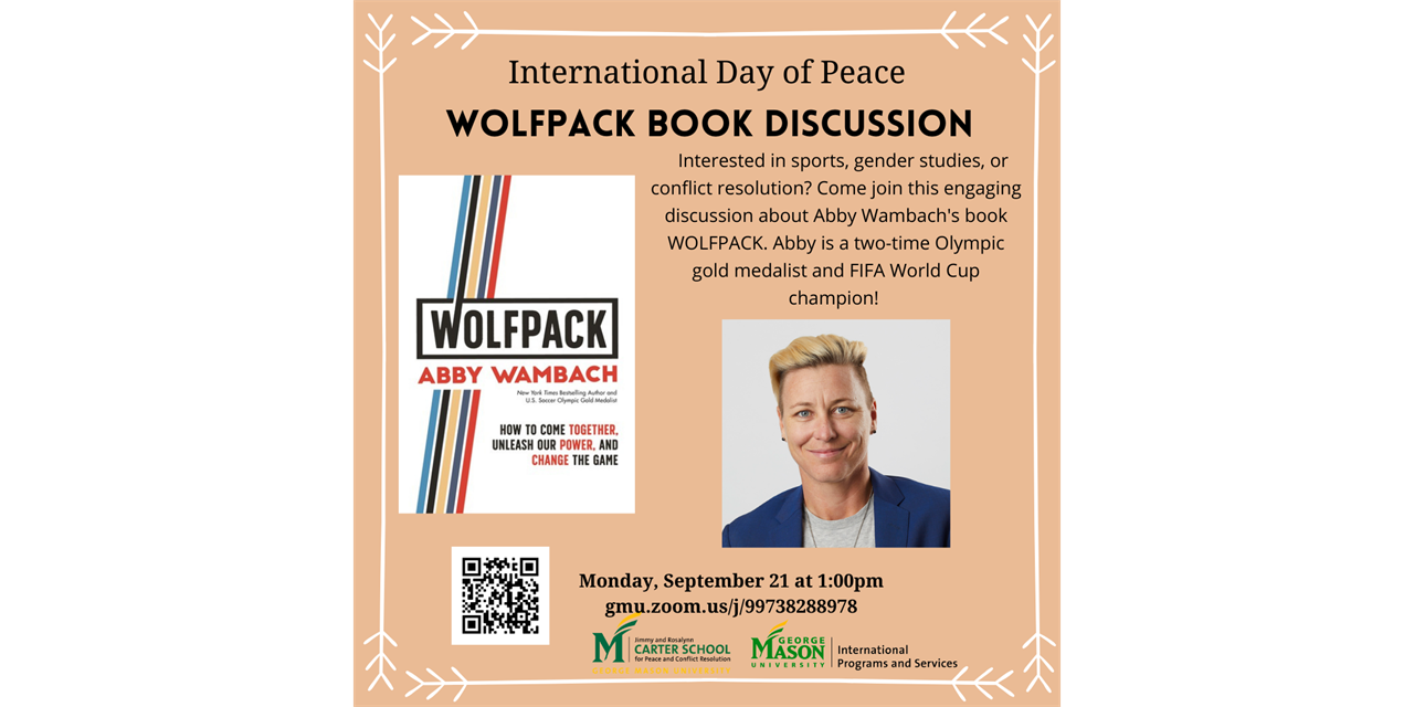 International Day of Peace: WOLFPACK Book Discussion Event Logo