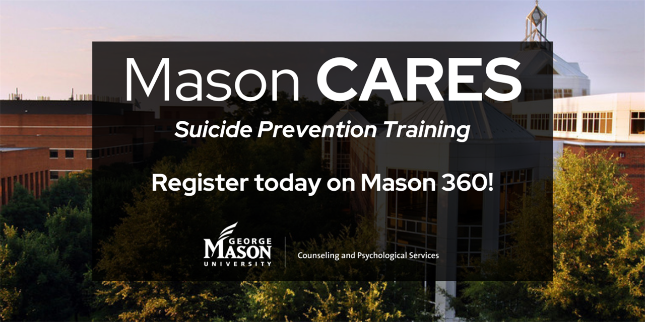 MasonCARES Suicide Prevention Training - Faculty and Staff Event Logo