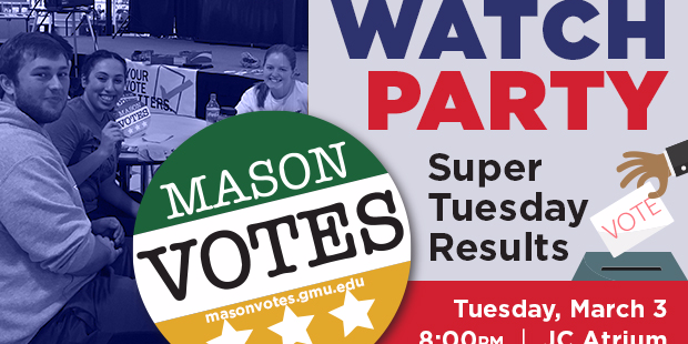 Super Tuesday Results Watch Party Event Logo