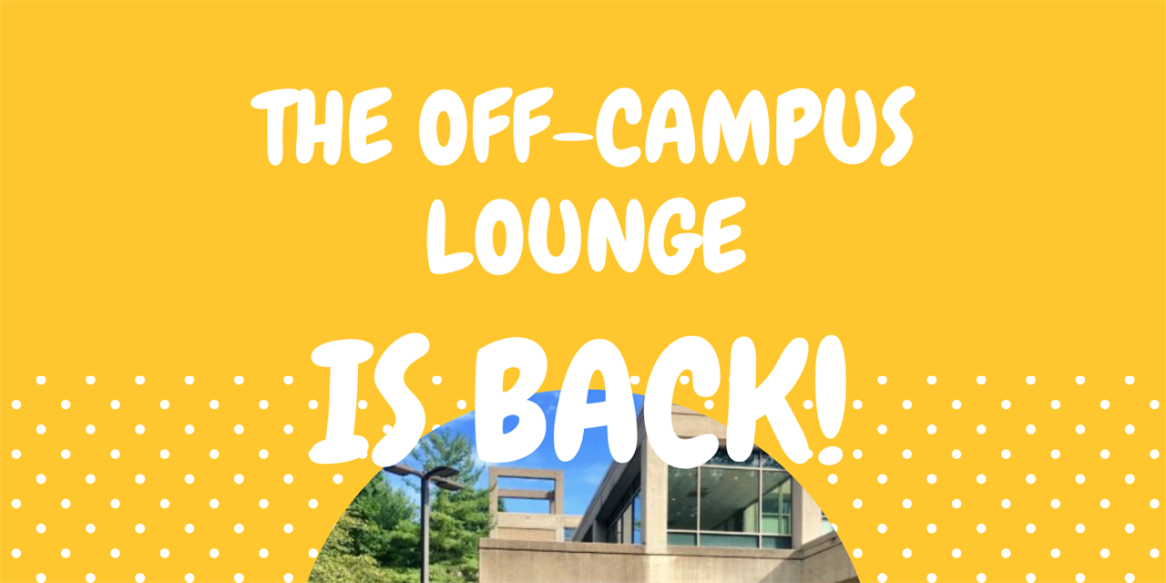On-Campus Lounge for Off-Campus students Event Logo