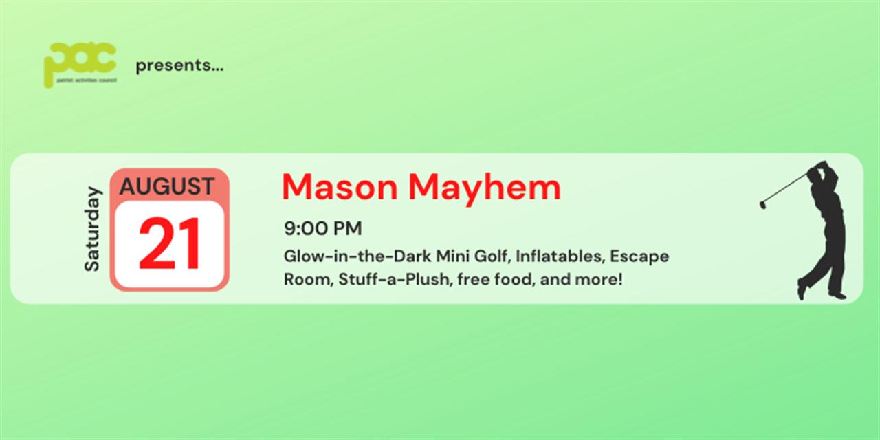 Mason Mayhem Event Logo