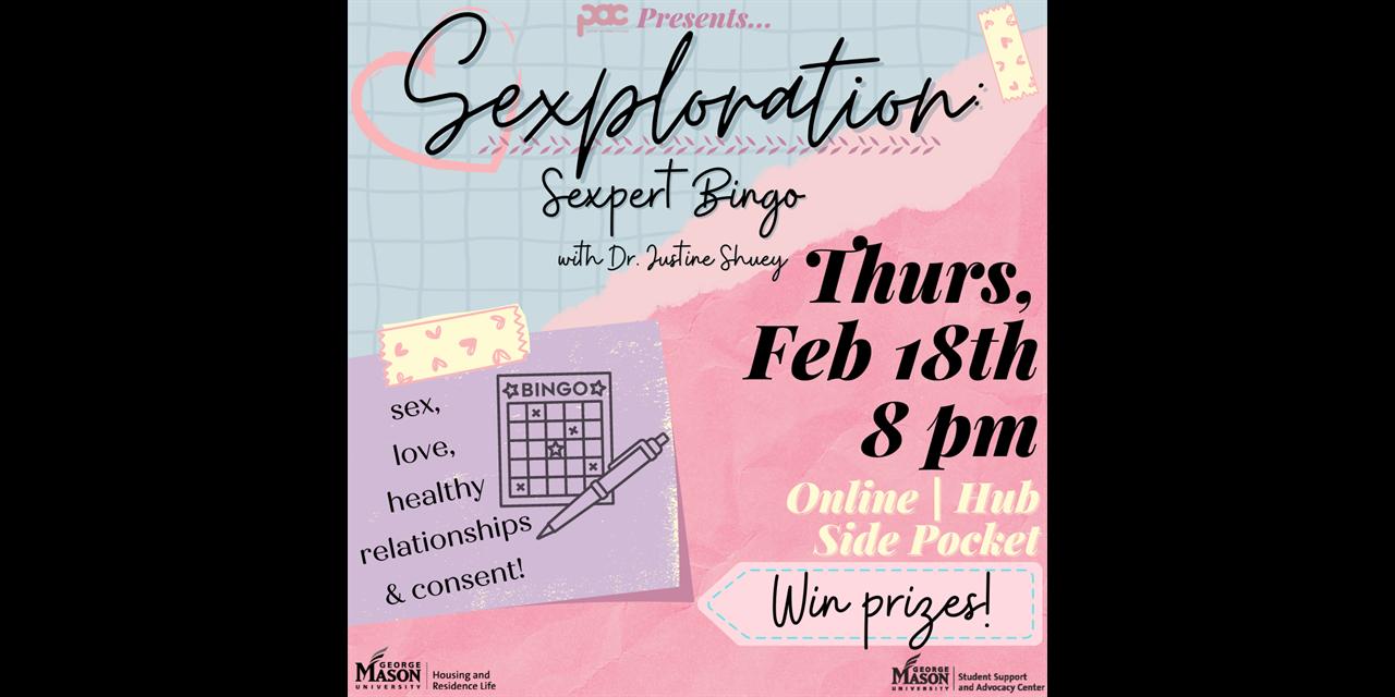 Sexploration: Sexpert Bingo! Event Logo