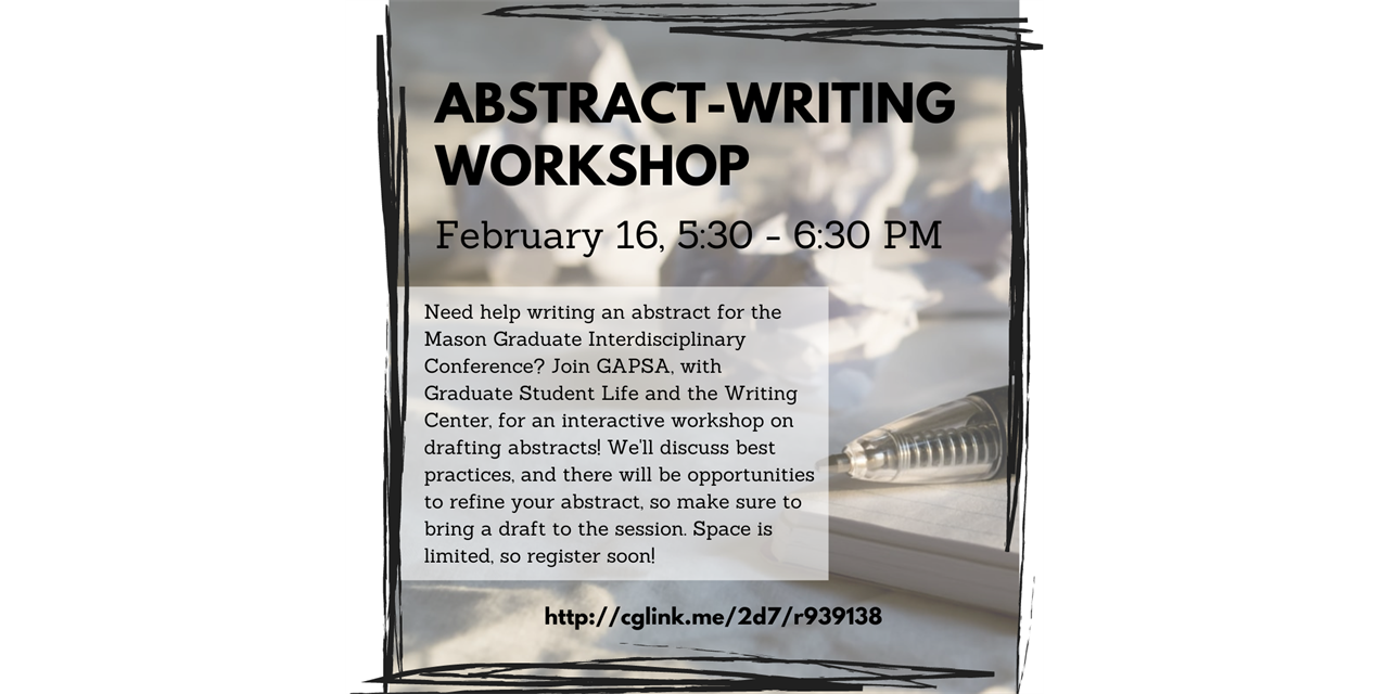Abstract Writing Workshop Event Logo