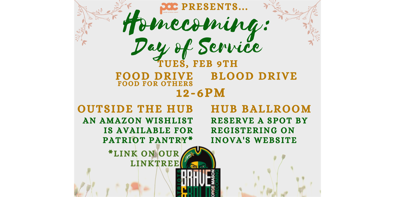 Homecoming: Day of Service Event Logo