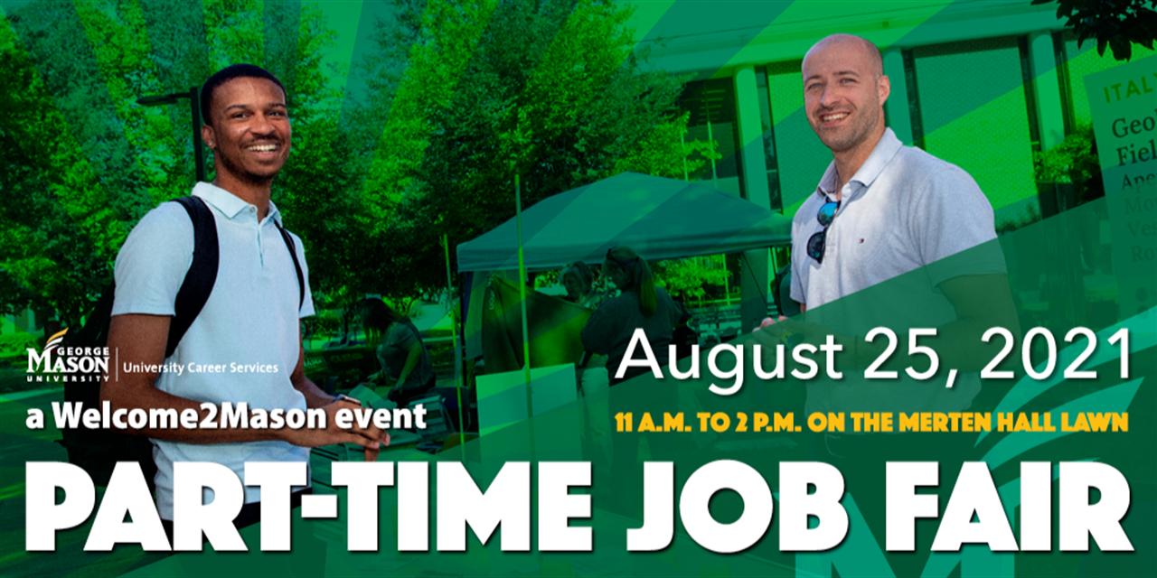 Part-Time Job Fair Event Logo
