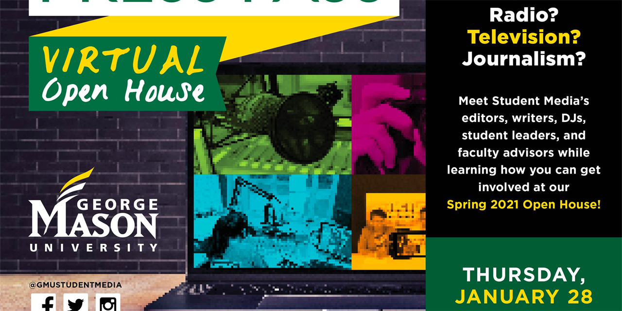 Virtual Press Pass - Spring 2021 Open House Event Logo