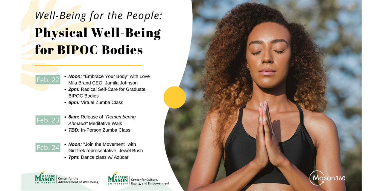 Well-Being for the People: Physical Well-Being for BIPOC Bodies Event Logo
