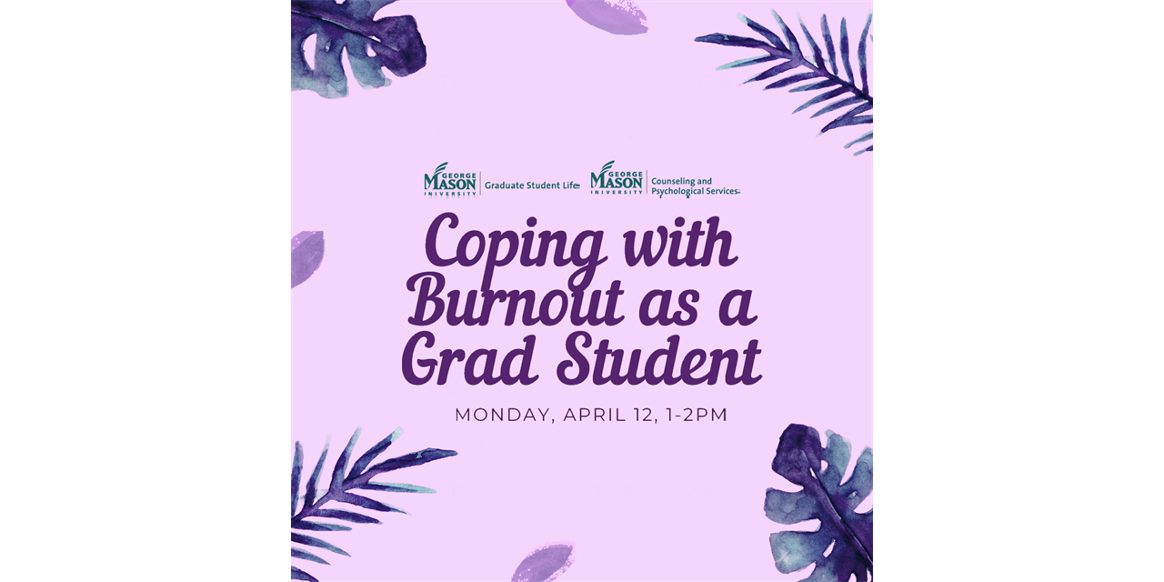 Coping with Burnout as a Grad Student Event Logo