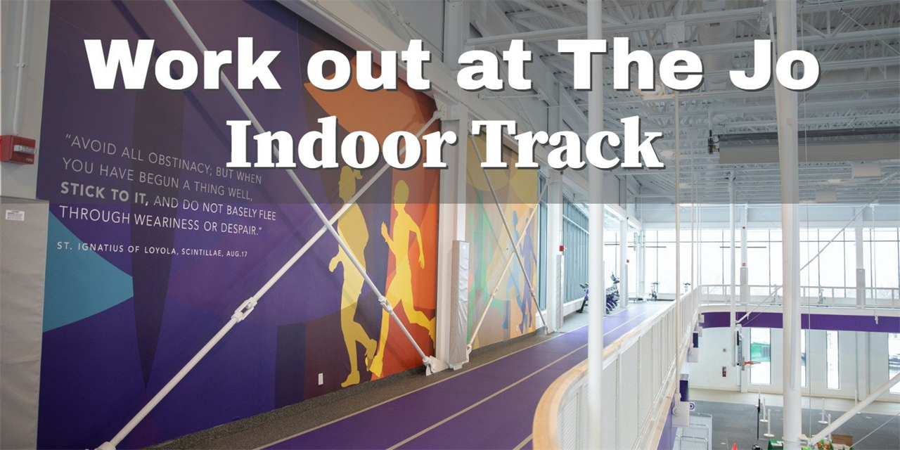 Work out at The Jo: Indoor Track Event Logo
