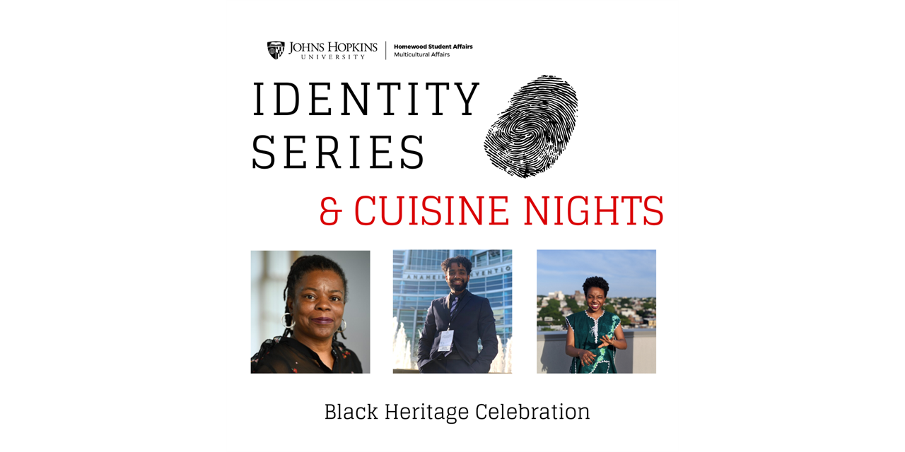 Identity Series & Cuisine Night Series- Black Heritage Celebration Event Logo