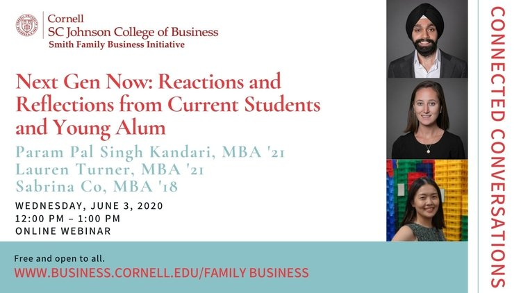 Connected Conversations - Next Gen Now: Reactions and Reflections from Current Students and Young Alumni