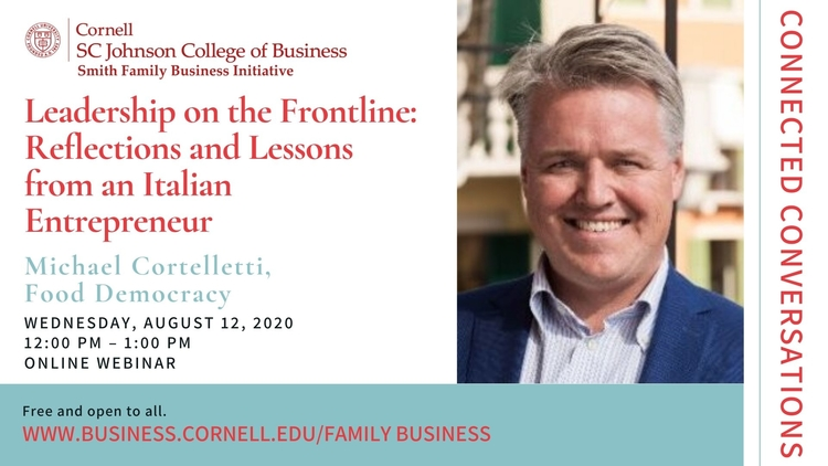 Connected Conversations: Leadership on the Frontline: Reflections and Lessons from an Italian Entrepreneur