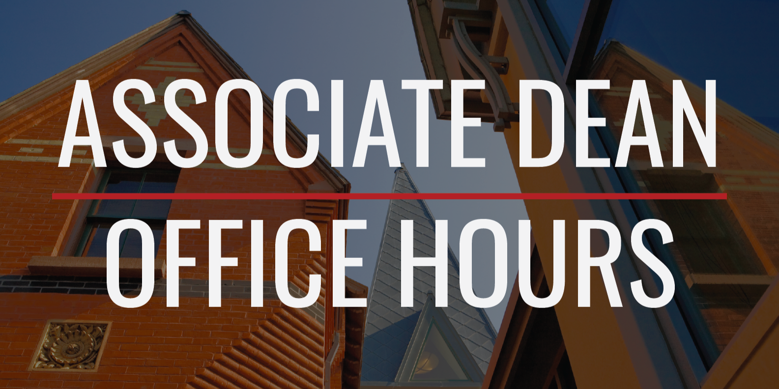 Open Office Hours with Associate Dean Pascarella
