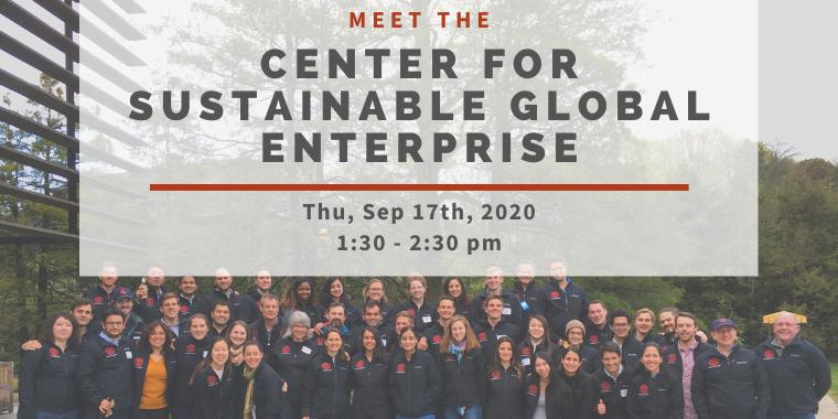 Meet the Center for Sustainable Global Enterprise