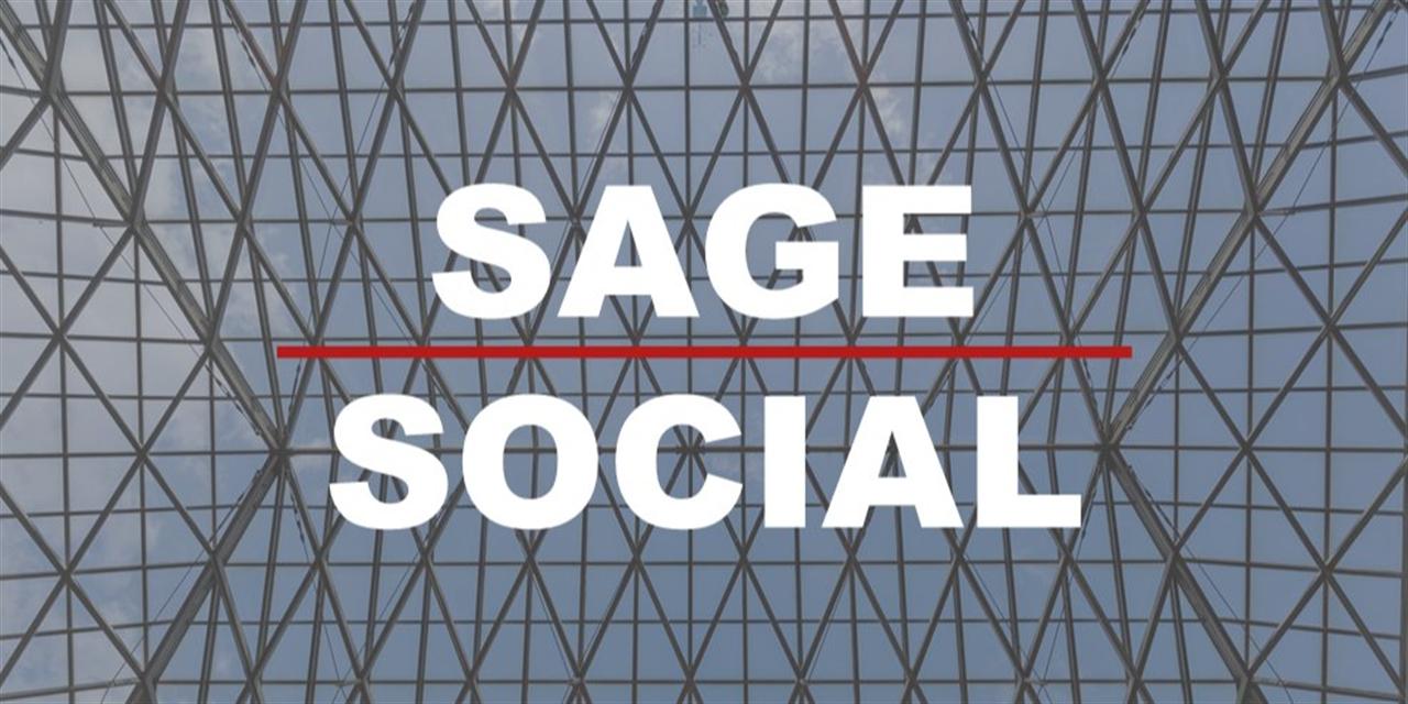 Virtual Sage Social Event Logo