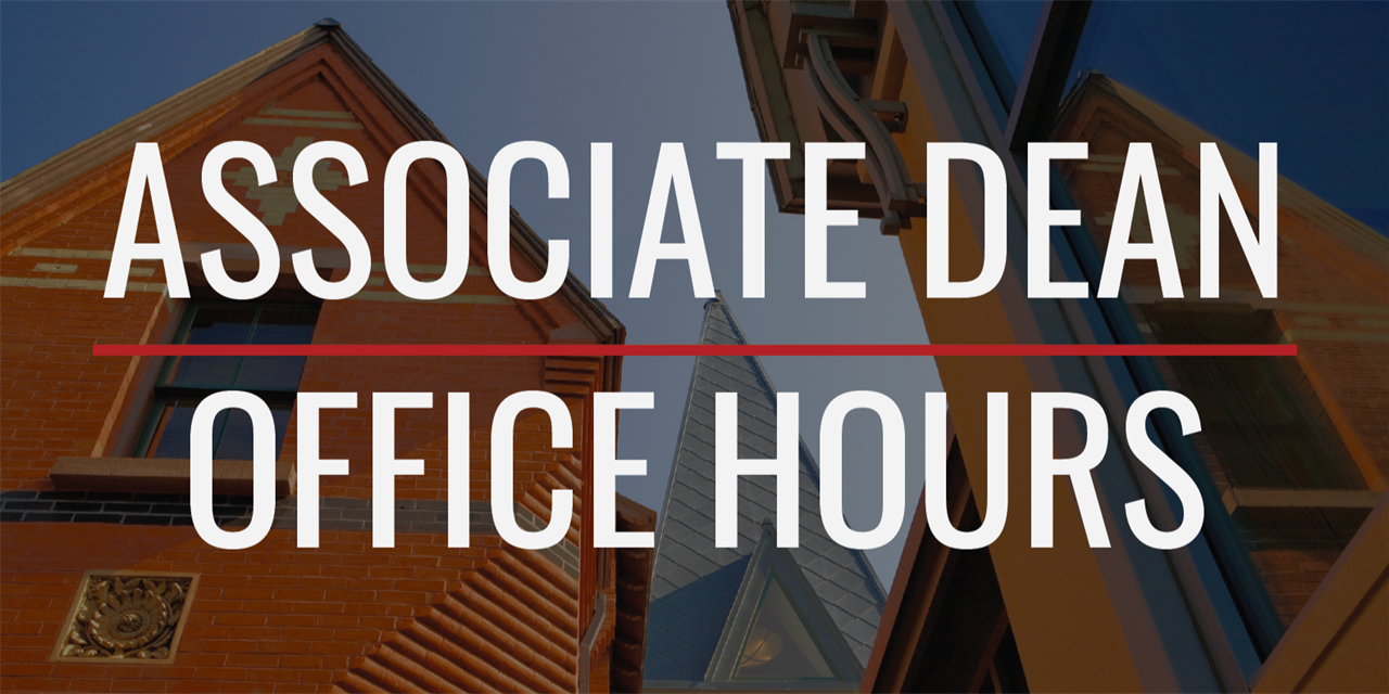 Open Office Hours with Associate Dean Pascarella Event Logo