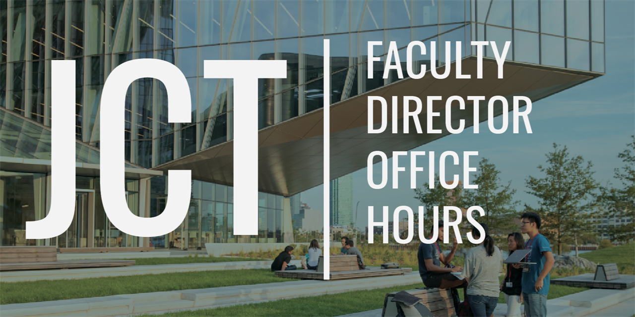 Johnson Cornell Tech Faculty Director Office Hours Event Logo