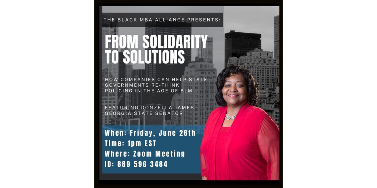 BGBA Presents: From Solidarity to Solutions Event Logo