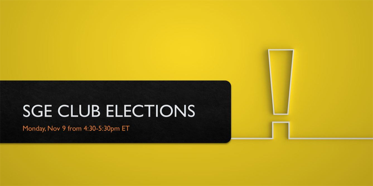 SGE: Board Elections Event Logo
