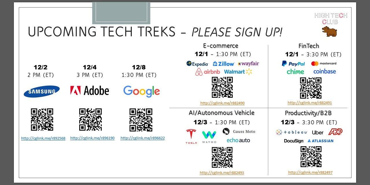 Virtual Tech Trek - FinTech Event Logo